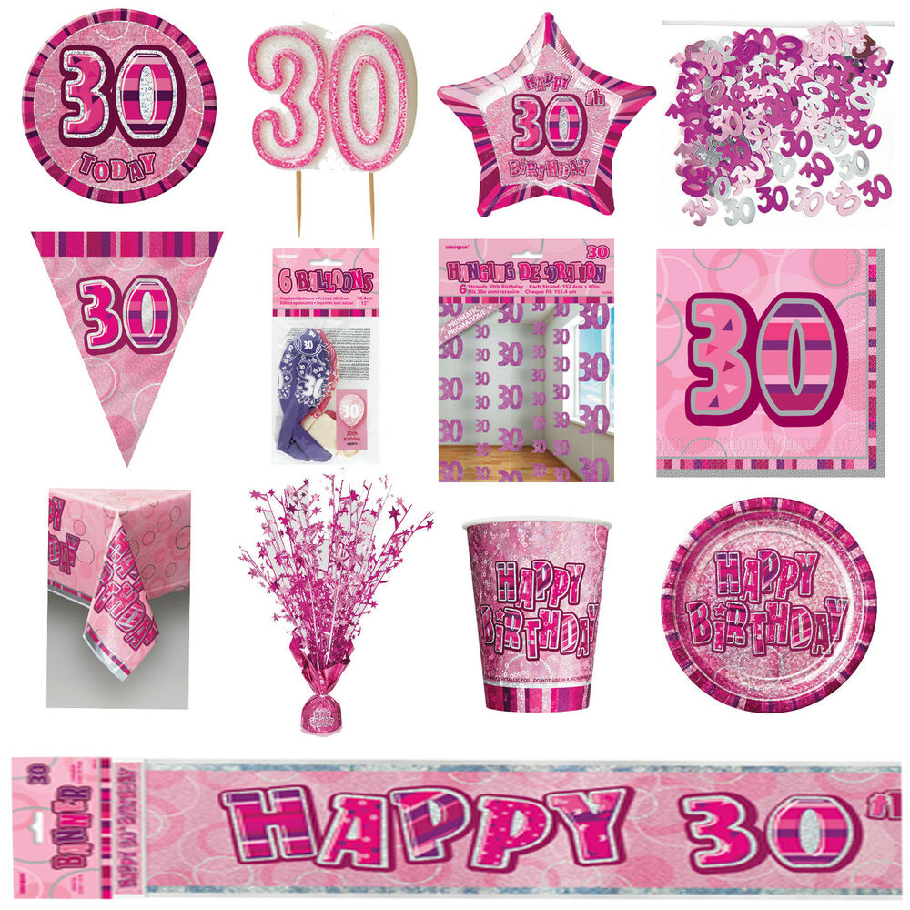 30th pink glitz birthday party supplies decorations for 30th party decoration ideas