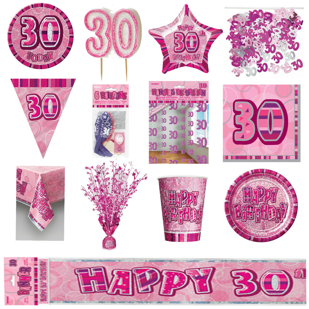 30th pink glitz birthday party supplies decorations for 30th anniversary party decoration ideas