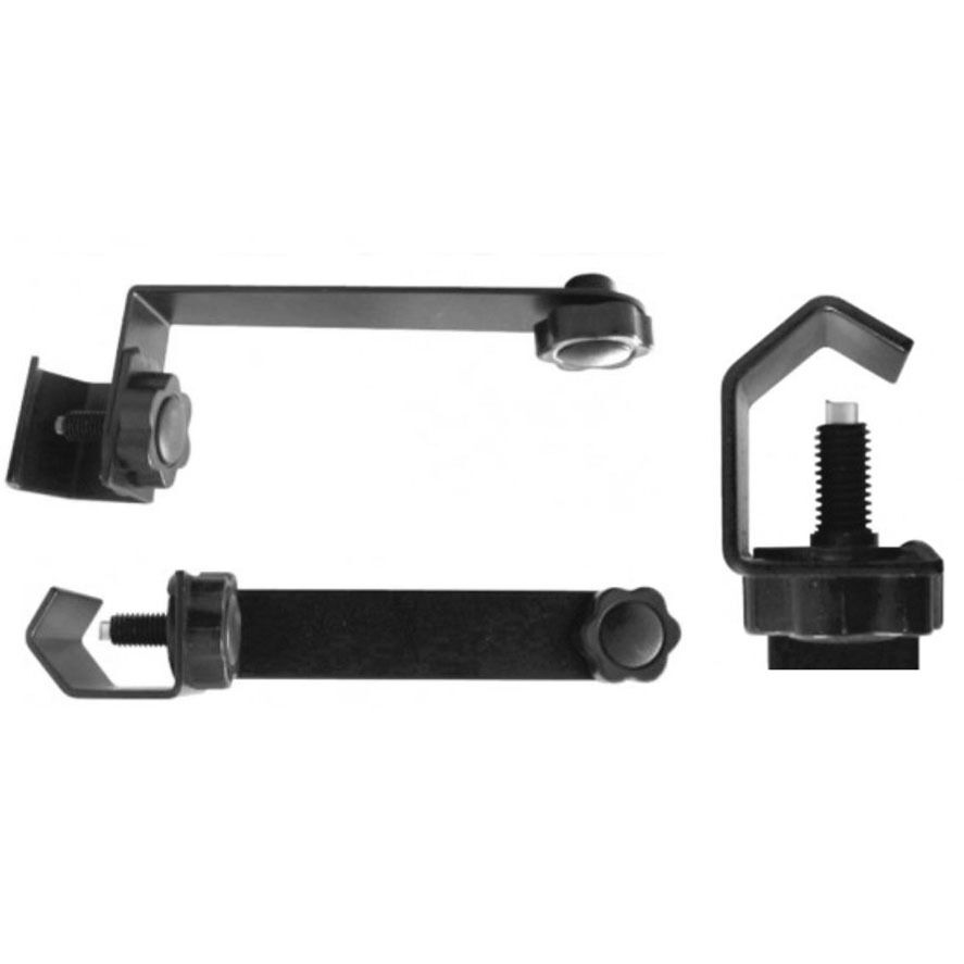 Extendable C Clamp : Mic stand extension attachment bar clamp mount on stage in
