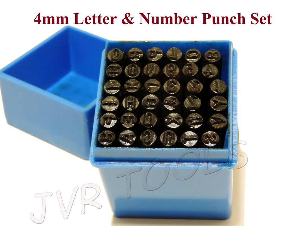 letter and number punch set 36 pc letter amp number stamping set a z 0 9 punches metal 21017 | s l1000