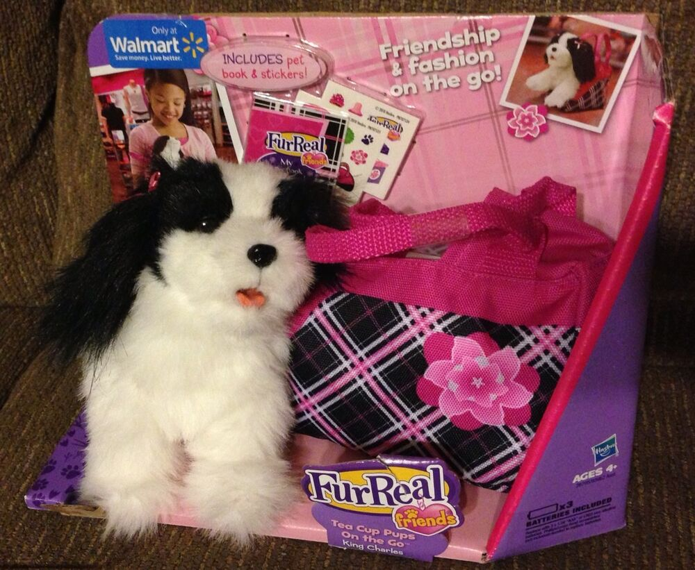 Walmart Toys Puppy : Furreal friends tea cup pups on the go king charles dog