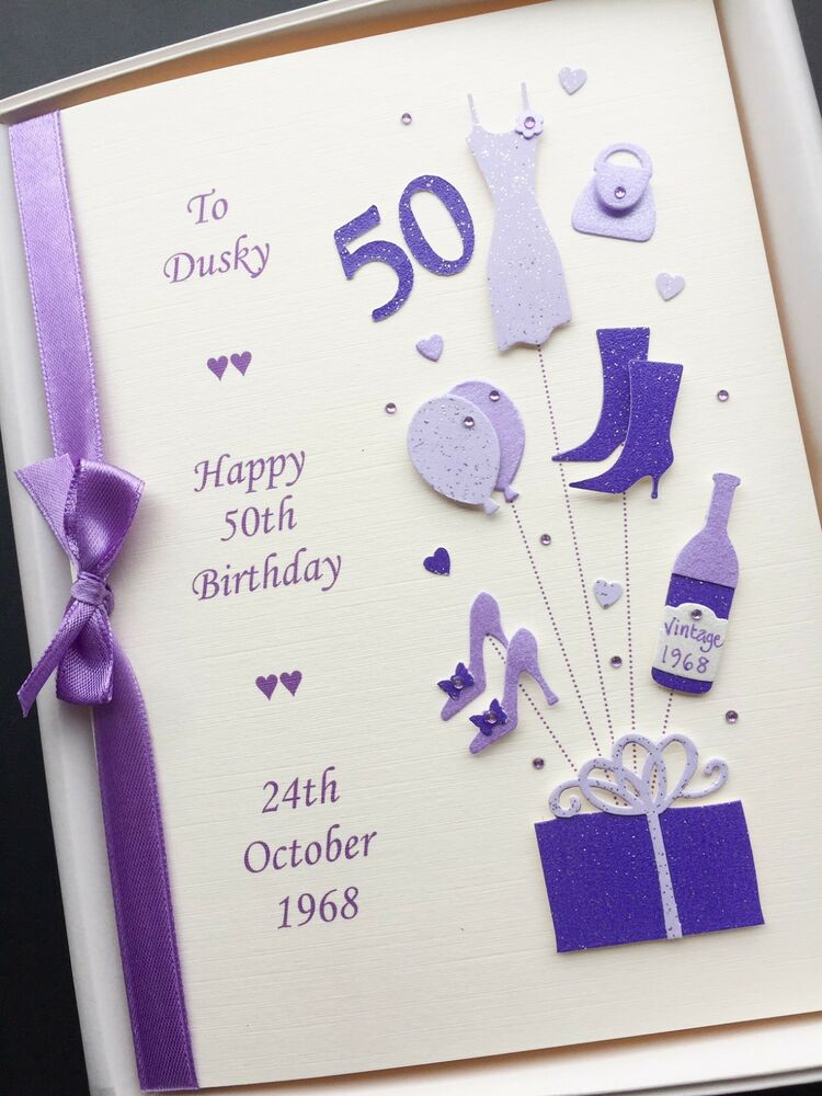 Birthday Cards Gift ~ Th birthday card for women personalised handmade gift