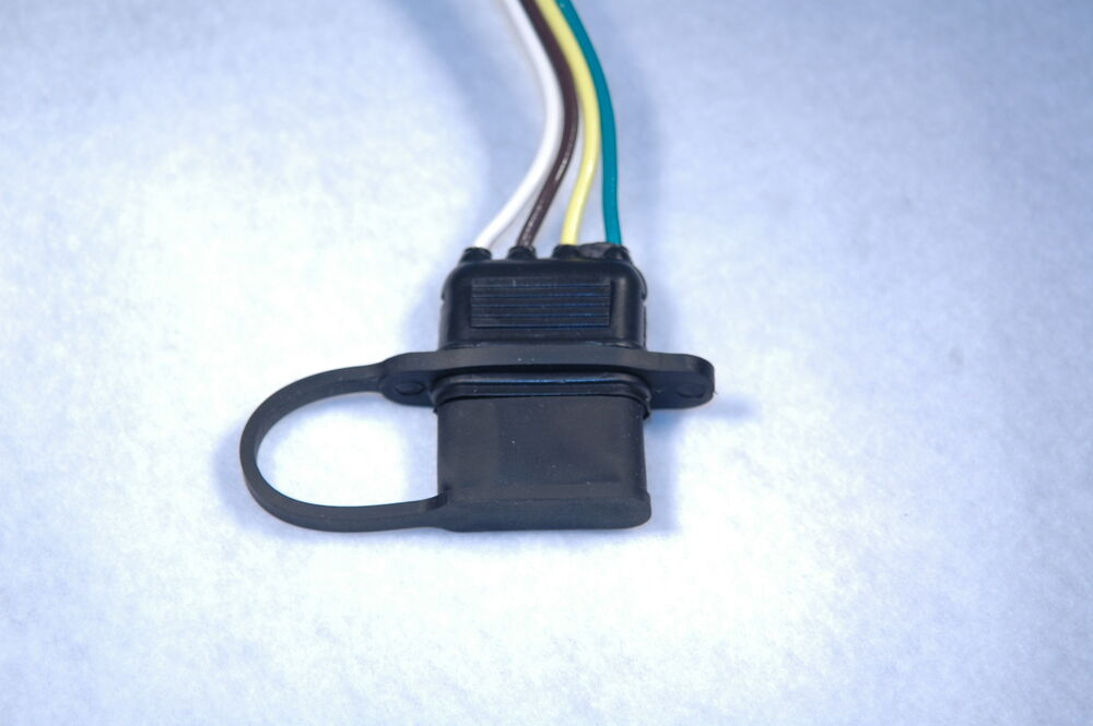 Trailer Wiring Harness Plug Covers : Universal wire flat trailer connector dust cover ebay