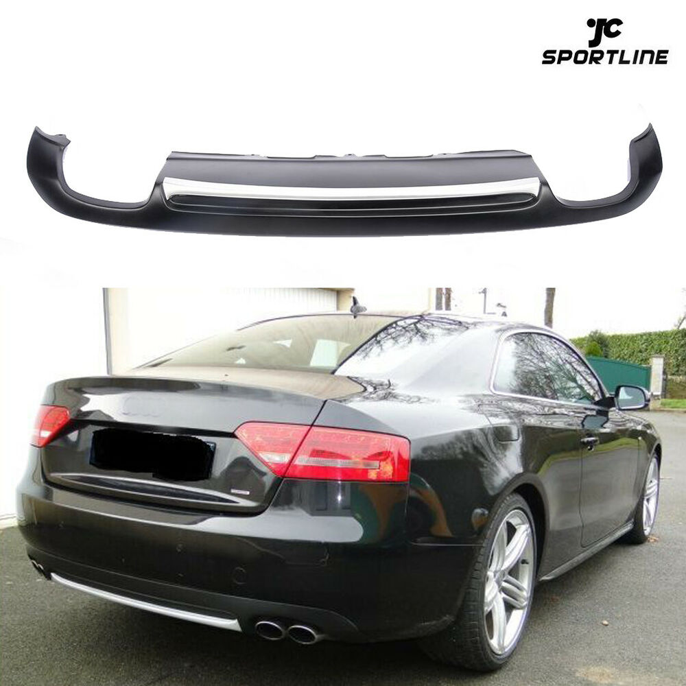 auto rear bumper diffuser lips spoiler fit for audi a5 2d. Black Bedroom Furniture Sets. Home Design Ideas