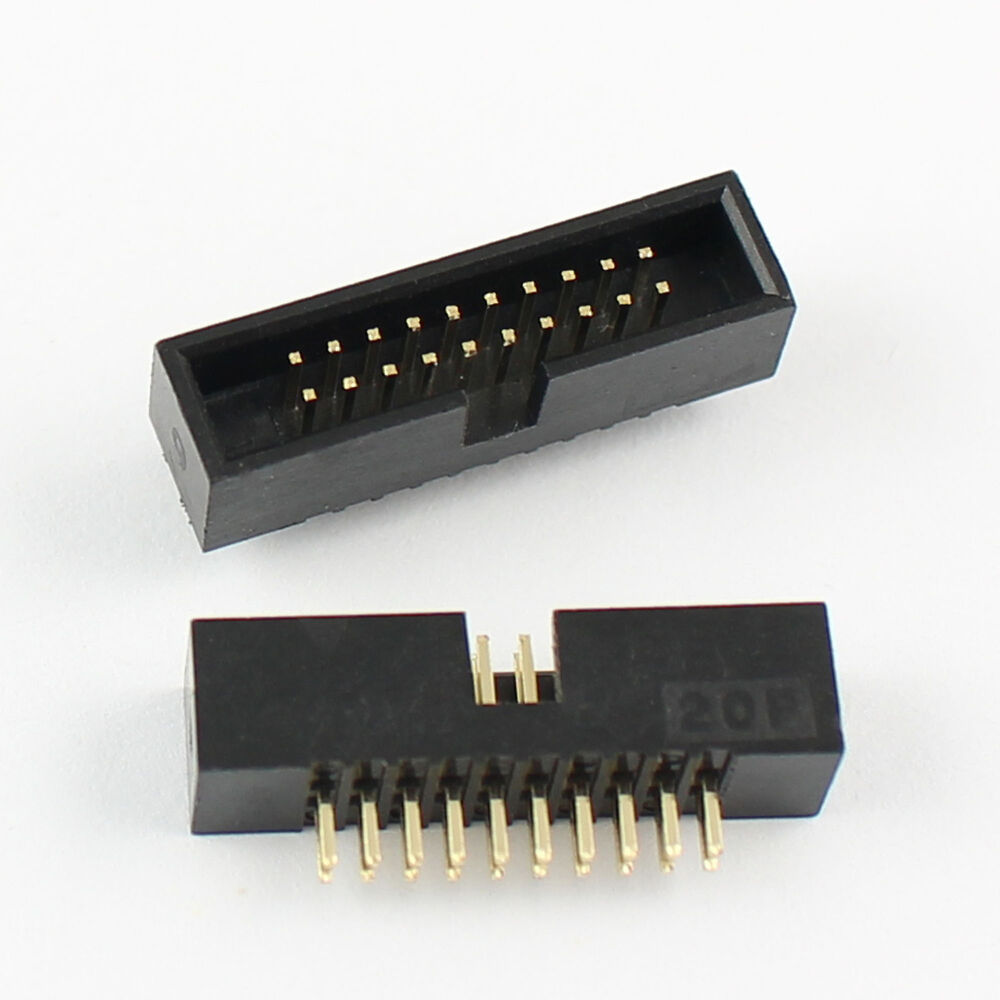 10pcs 1 27mm Pitch 2x10 Pin 20 Pin Dip Male Shrouded Box