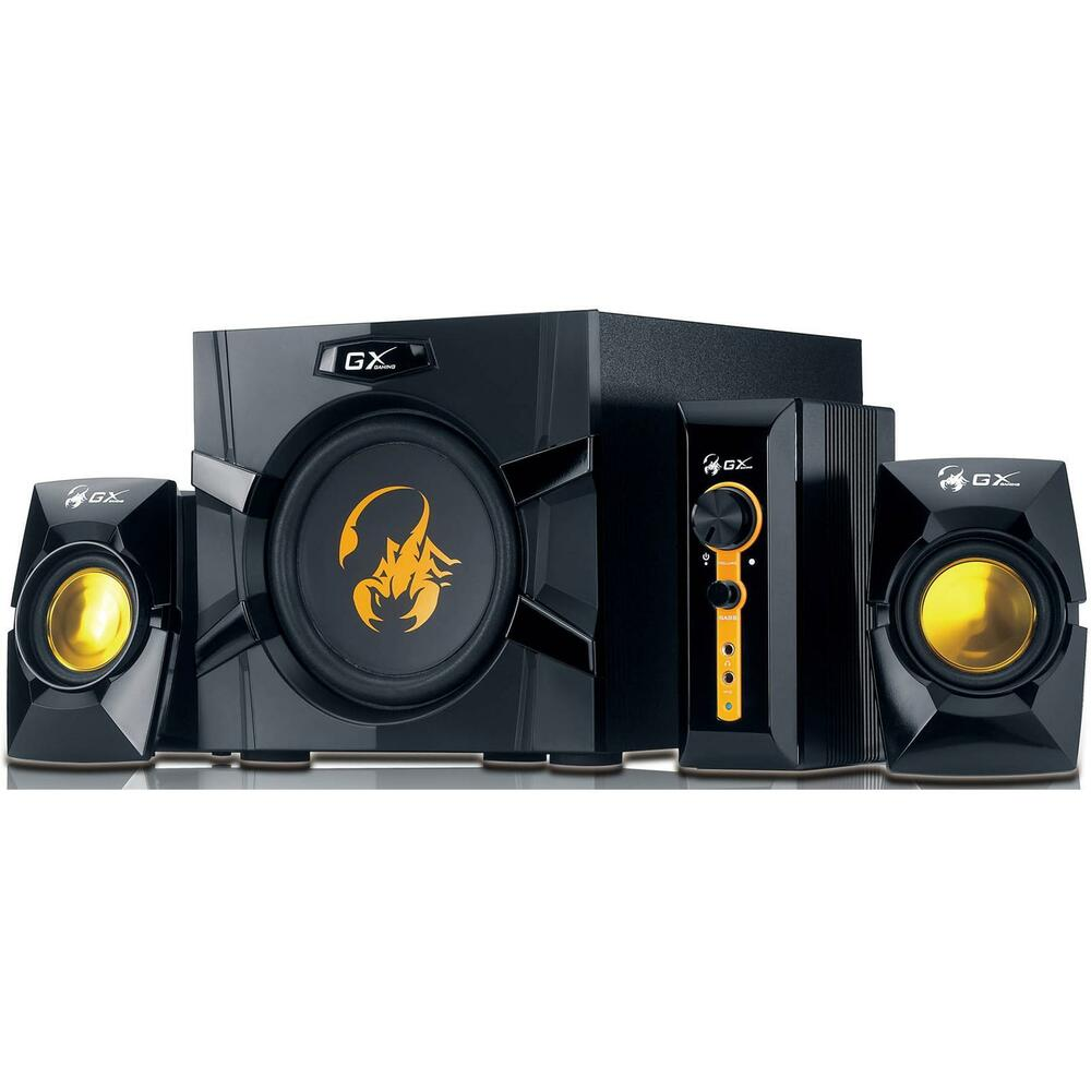 genius gx gaming 70w 2 1 speaker system with subwoofer rca 3 5mm jack input ebay. Black Bedroom Furniture Sets. Home Design Ideas