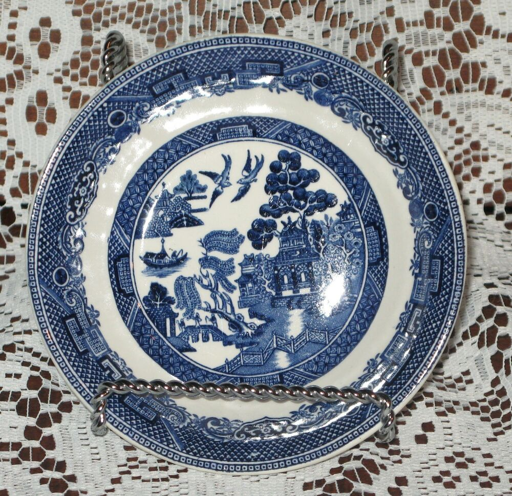 johnson brothers bros blue willow fruit sauce dessert bowl made in england ebay. Black Bedroom Furniture Sets. Home Design Ideas
