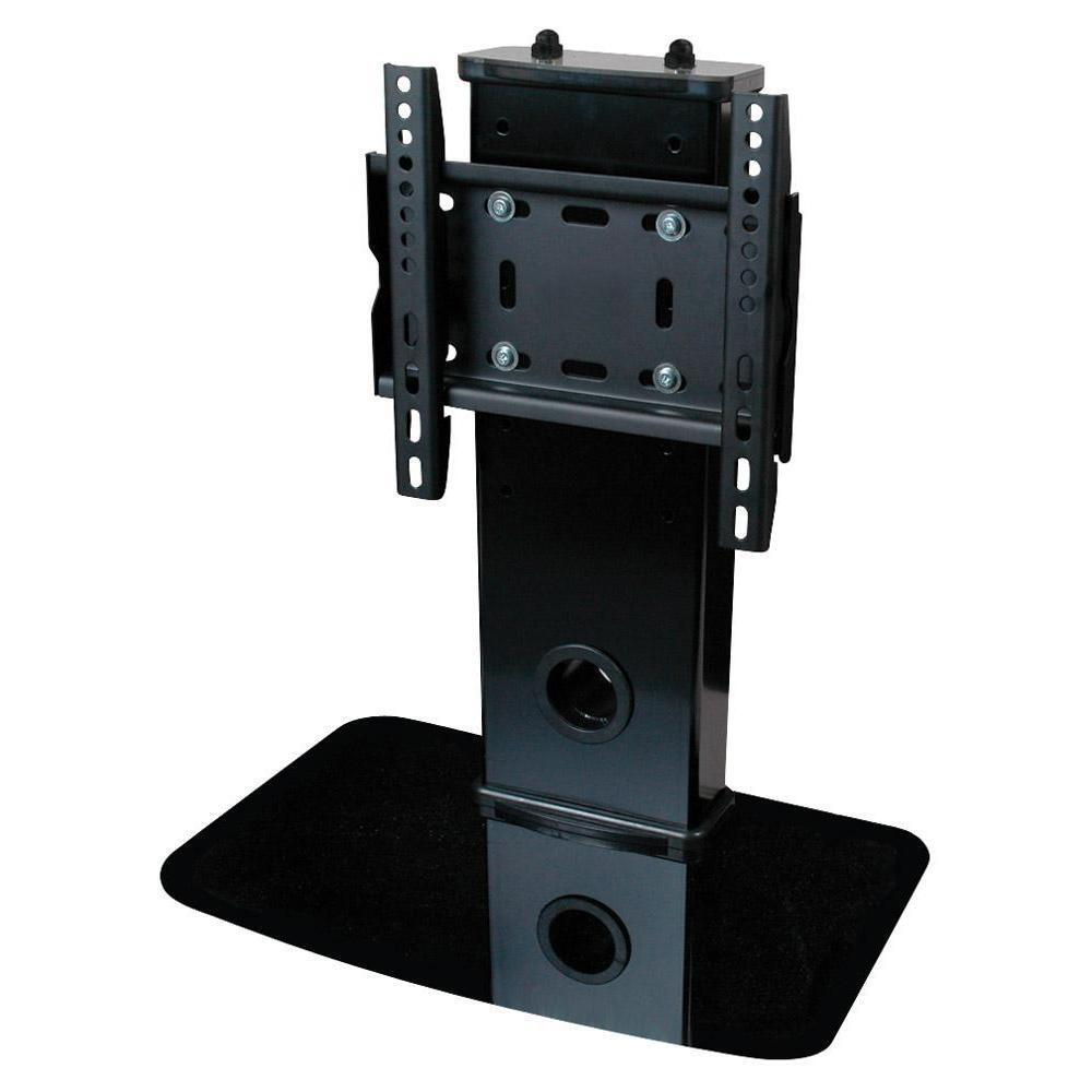 universal tv stand pedestal base fits most 17 37 lcd led vesa 75x75 200x200 ebay. Black Bedroom Furniture Sets. Home Design Ideas