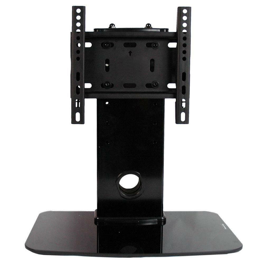 universal tv stand pedestal base fits most 17 37 panasonic lcd led plasma tvs ebay. Black Bedroom Furniture Sets. Home Design Ideas