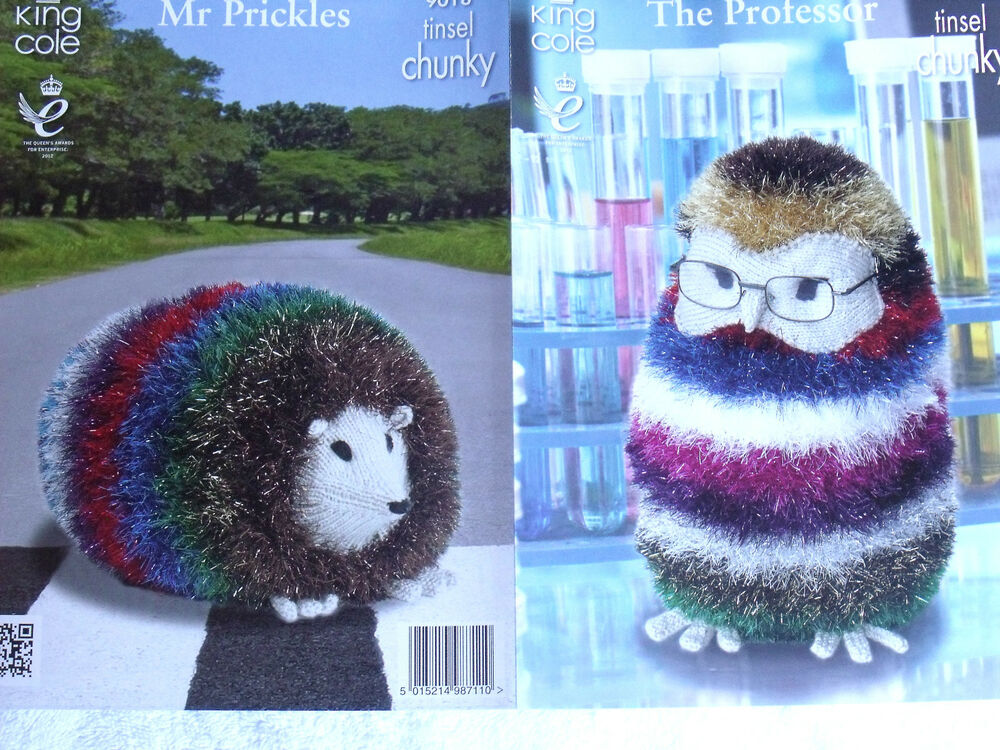 Tinsel Hedgehog Knitting Pattern Free : KING COLE PATTERN 9018. TOYS - GIANT HEDGEHOG & OWL. THE ...