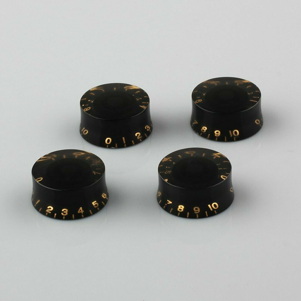 4pcs black speed knobs volume tone control buttons electric guitar accessories ebay. Black Bedroom Furniture Sets. Home Design Ideas
