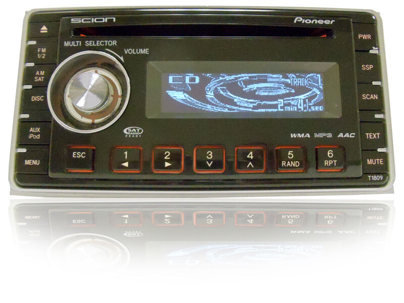 scion pioneer radio stereo mp3 cd player t1809 aux am fm. Black Bedroom Furniture Sets. Home Design Ideas