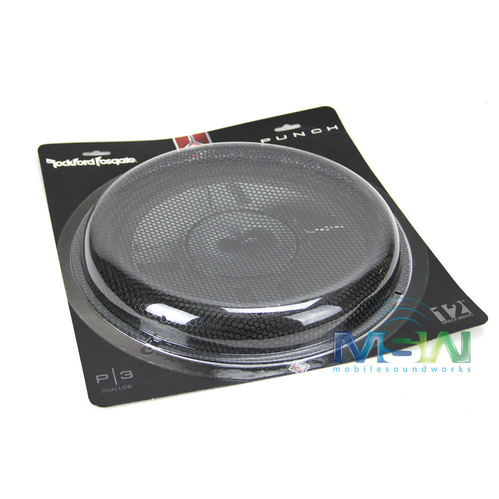 12 Quot Subwoofer Grill ~ Rockford fosgate p sg quot mesh grille grill for s