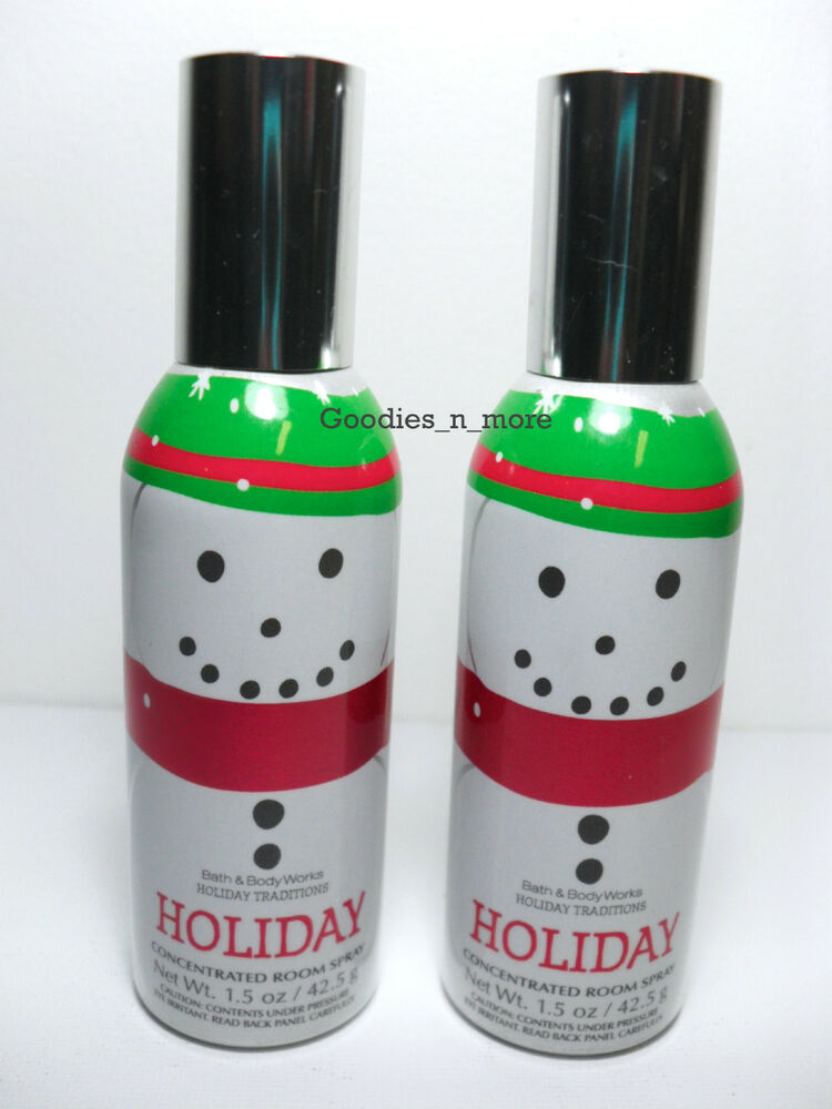 2 New Bath Amp Body Works Holiday Concentrated Room Sprays