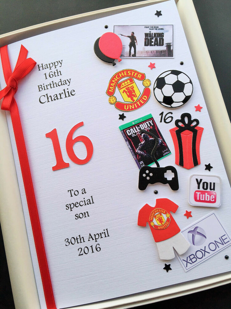 Son Th Birthday Cards Uk ~ Personalised th birthday card for boys