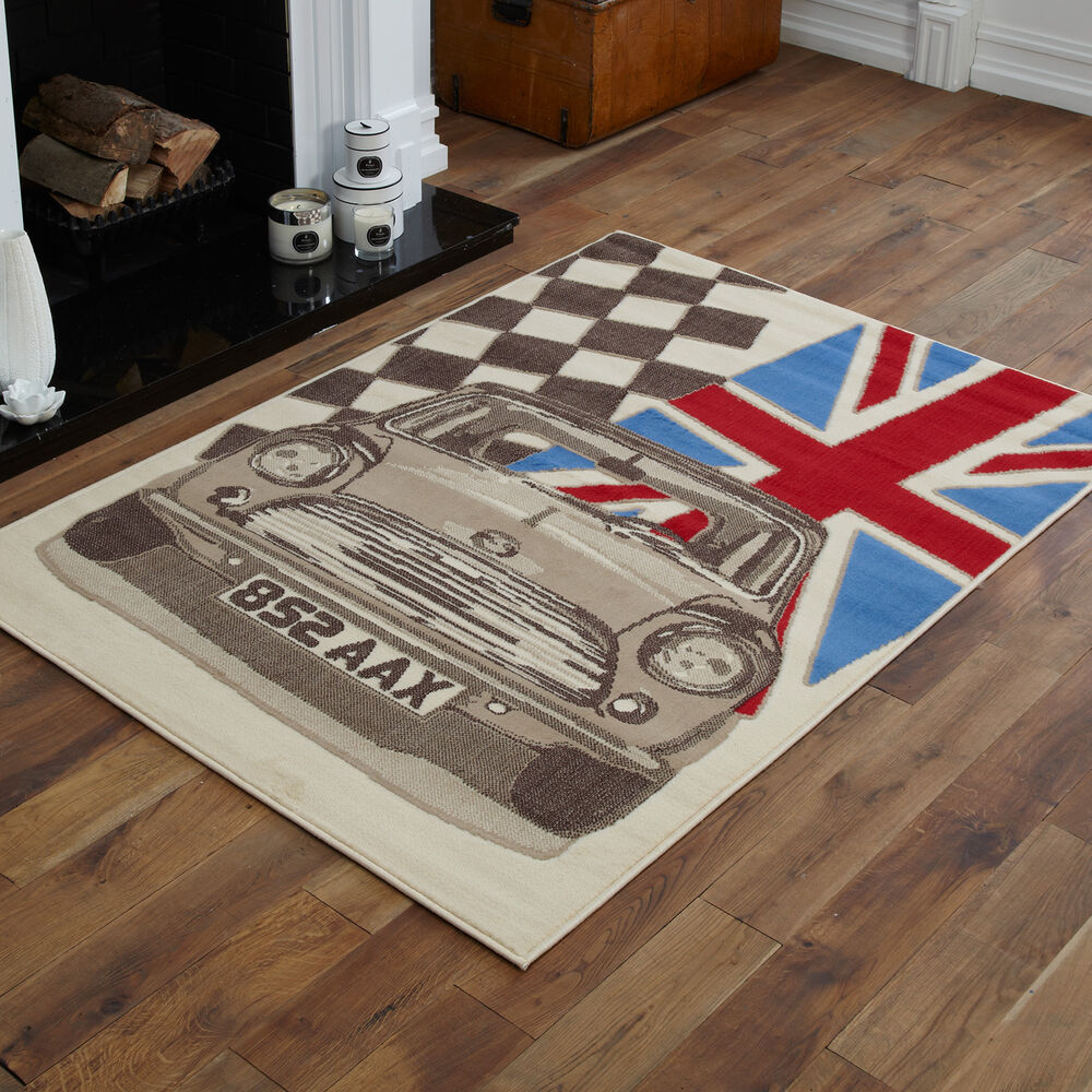Checkered Flag Rug: CHEAP NEW LARGE EXTRA LARGE CHECKED FLAG PATTERN UNION