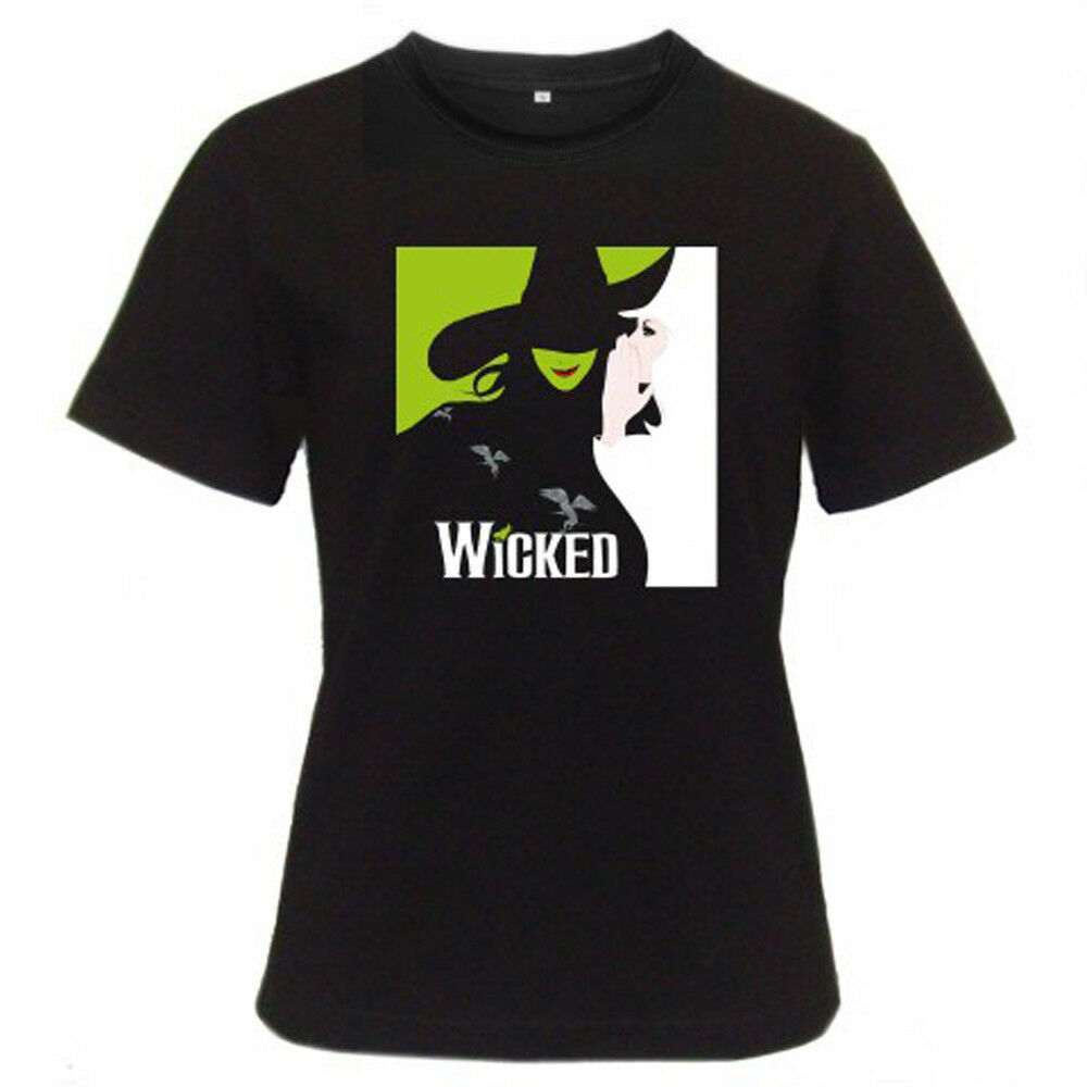 275ed44cf ... Musically Tee Shirts For Girls: New WICKED Broadway Musical About  Wizard Of Oz Women's