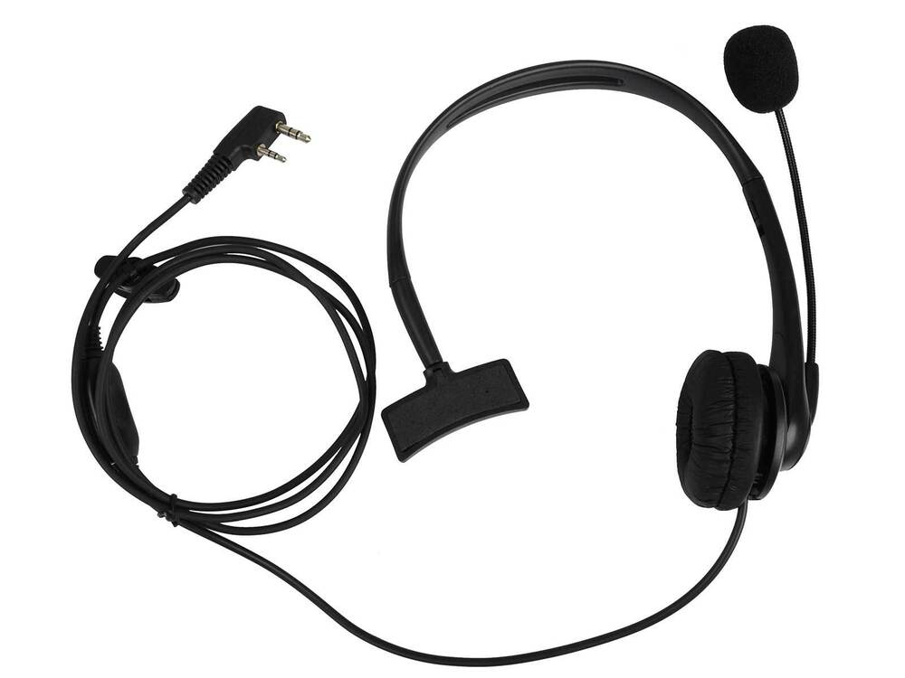 ptt mic earphone headset for kenwood baofeng two way radio. Black Bedroom Furniture Sets. Home Design Ideas