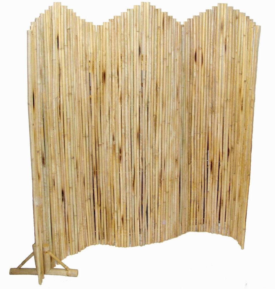 Bamboo pole flexible screen room divider indoor outdoor w Bamboo screens for outdoors