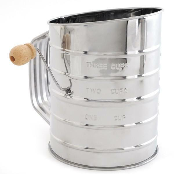 Norpro Stainless Steel Flour Sifter 5 Cup Rotary Hand
