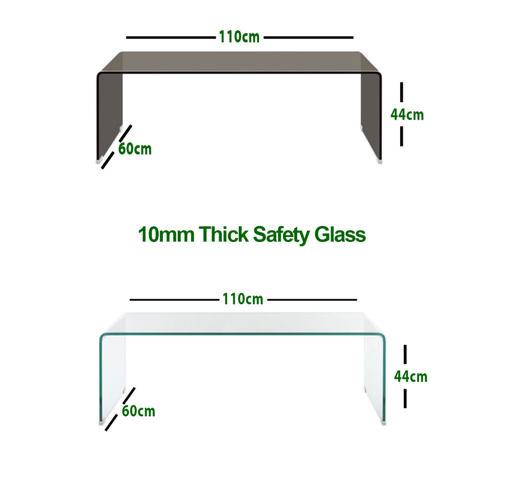 Curved Edge Glass Coffee Table