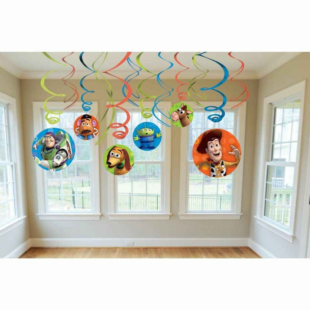 Toy Story Party Ideas Decorations : Disney toy story birthday dangling swirl decorations party