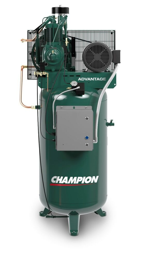 air compressor tank champion vr5 8adv 1 5 hp 1 phase 230v 80 gallon vertical 29450