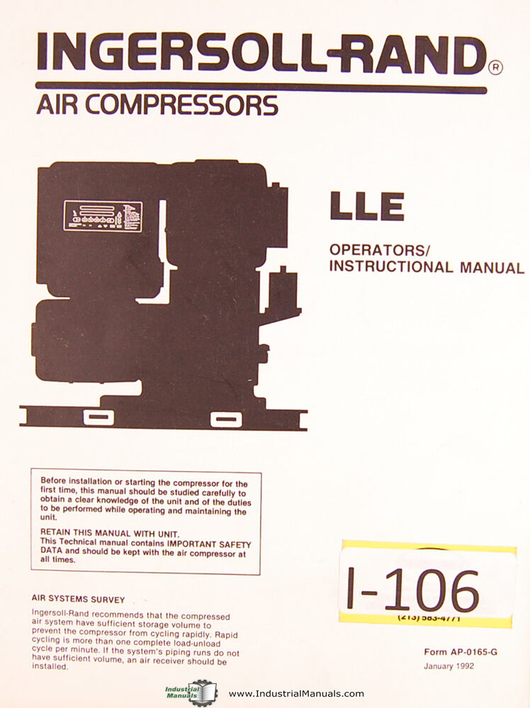 Ingersoll Rand 4000 Owners Manual