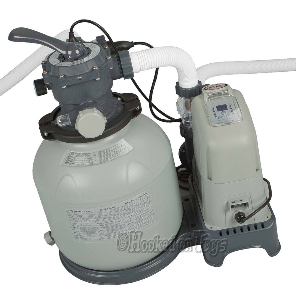 Intex Krystal Clear Sand Filter Pump Saltwater System 24 39 Pool 1600gph 28675eg Ebay