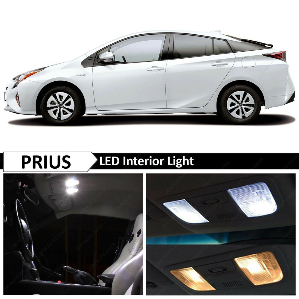 2015 2017 toyota prius premium white interior led lights package kit tool ebay. Black Bedroom Furniture Sets. Home Design Ideas