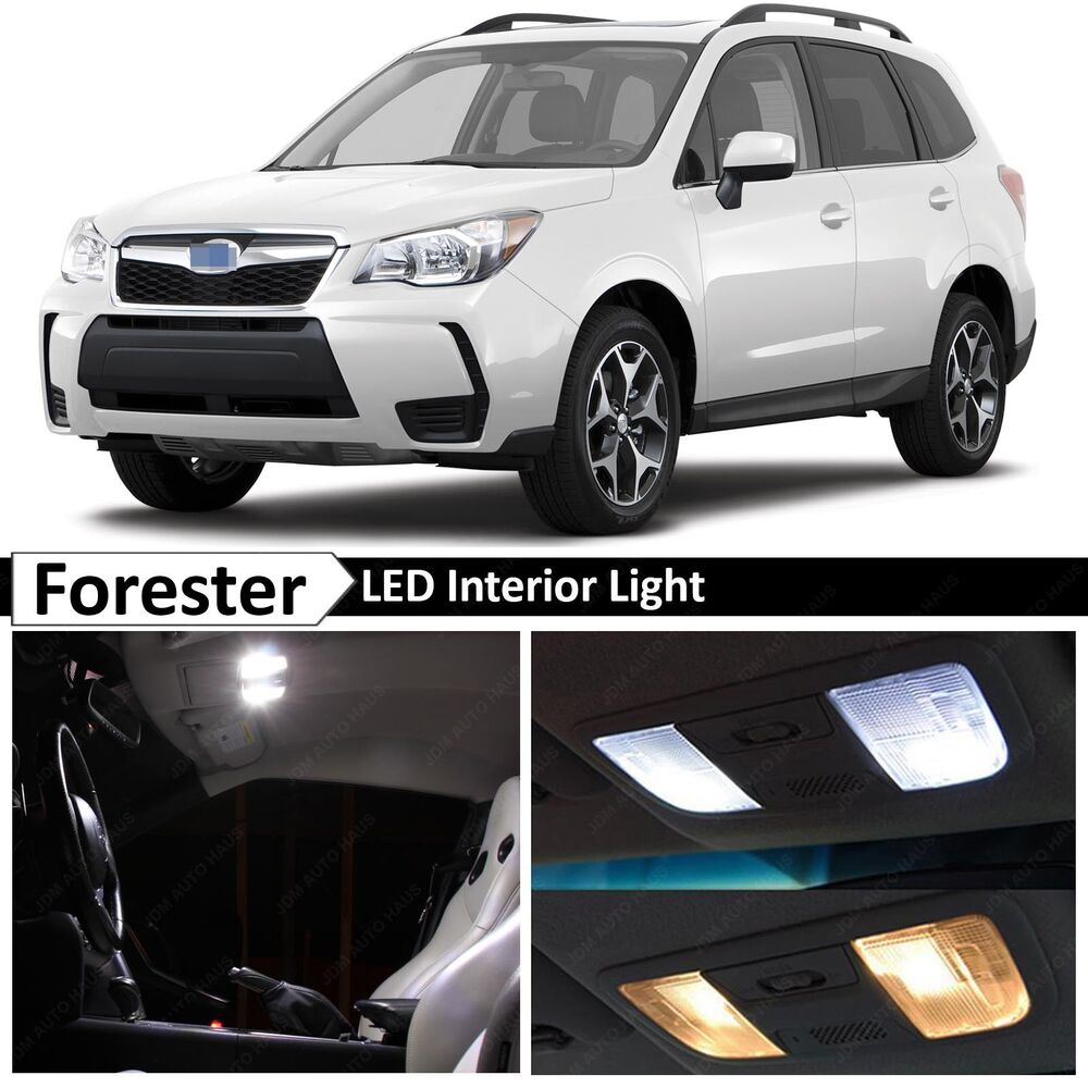 8x white interior led lights package kit for 2015 2017 subaru forester ebay for Led car interior lights ebay