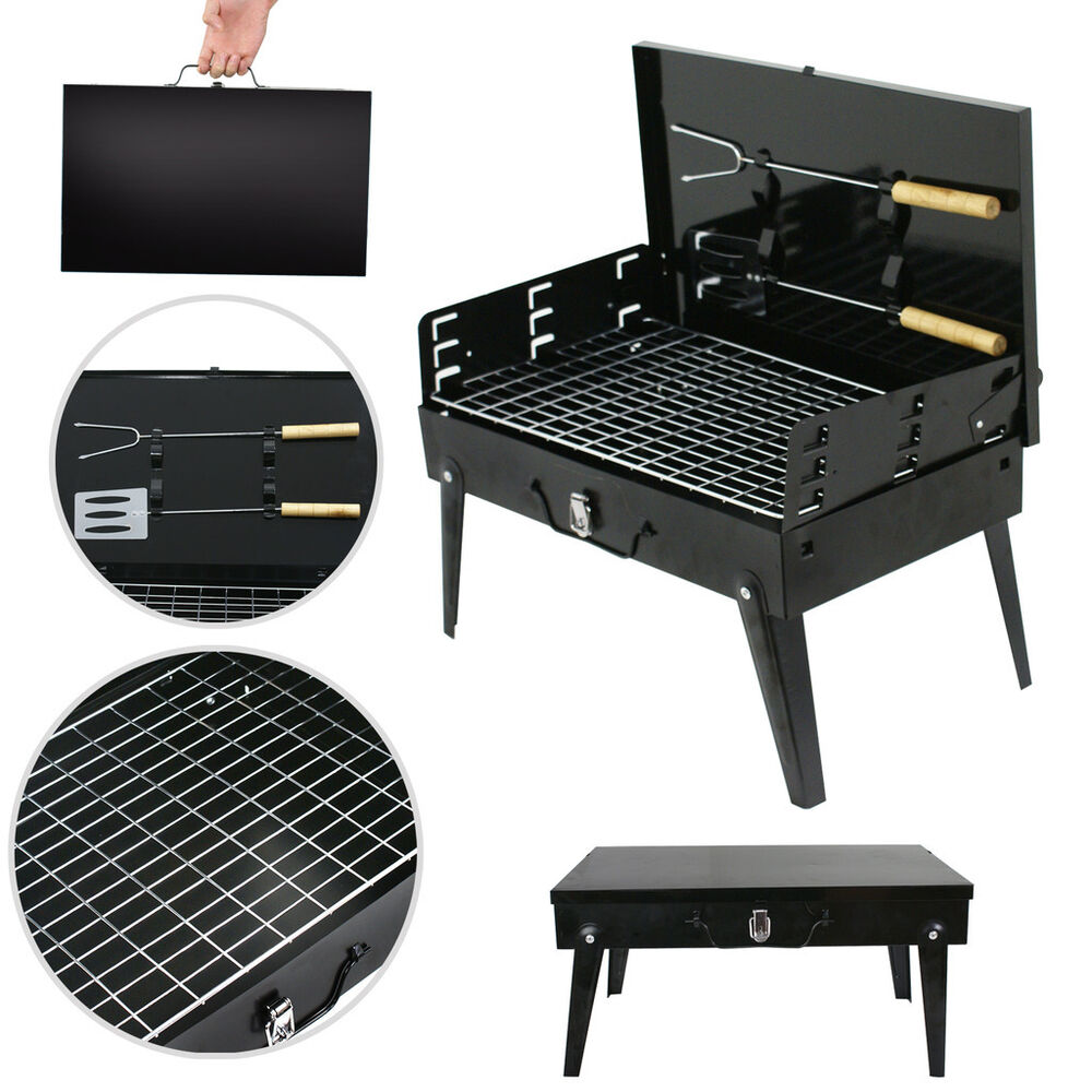 folding portable compact charcoal bbq grill outdoor. Black Bedroom Furniture Sets. Home Design Ideas