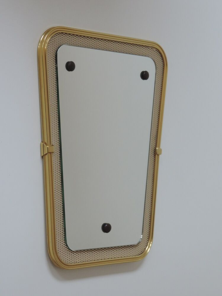 vintage spiegel gitter wandspiegel mirror 50er jahre ebay. Black Bedroom Furniture Sets. Home Design Ideas