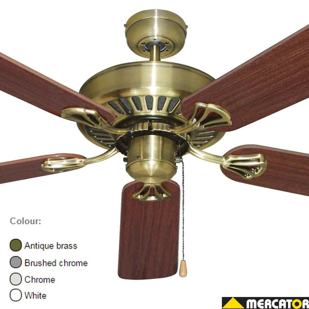 Old Ceiling Fans : New mercator hayman quot ceiling fan old fashioned antique