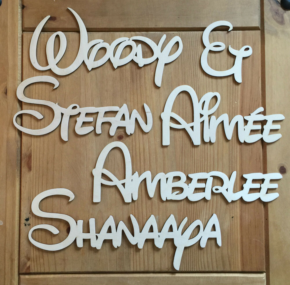 Personalised wooden name plaques words letters wall door for Letter name signs