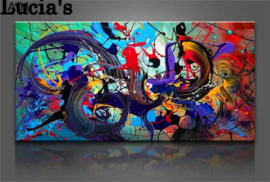 Knife Oil Painting Horse On Canvas Abstract Living Room