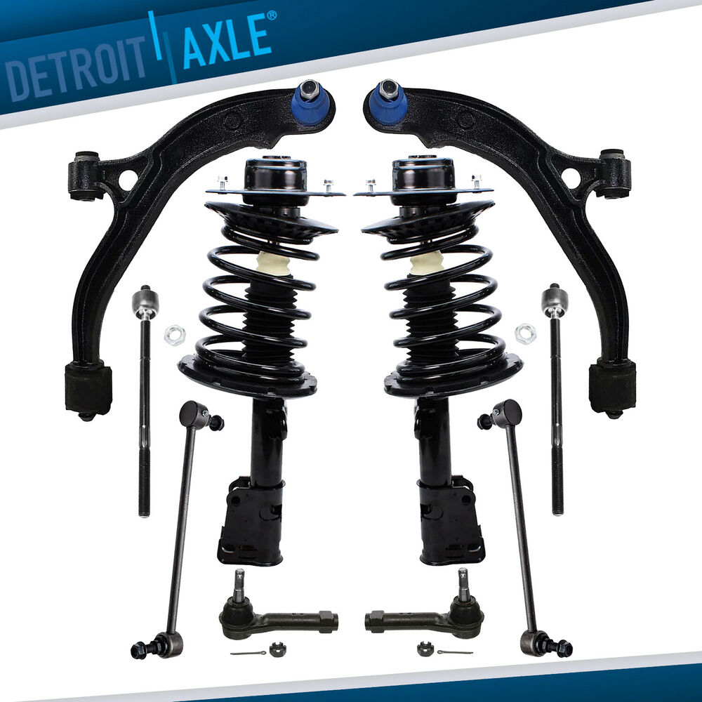 Front Suspension: New 10pc Complete Front Suspension Kit + Quick Ready Strut