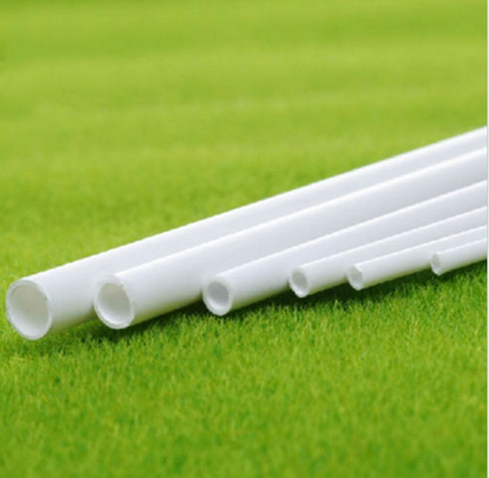 10 pcs abs styrene plastic round tube pipe diameter 3mmx250mm white b38 ebay. Black Bedroom Furniture Sets. Home Design Ideas