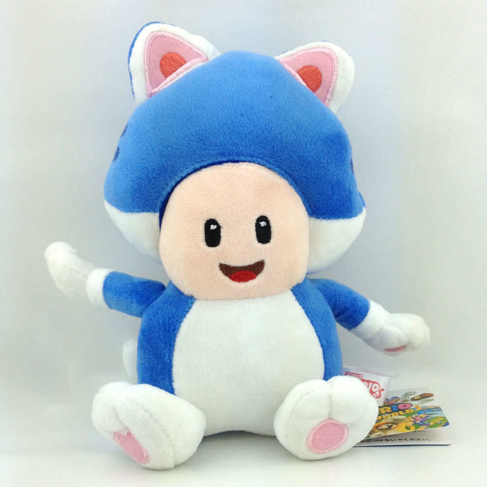 Soft Plush Toys : Super mario d world character cat form toad soft plush