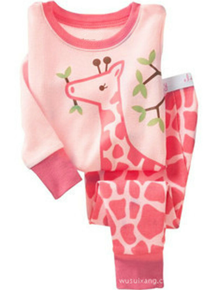 Cute Giraffe Cotton Sleepwear Pajama Sets for Baby Toddler ...
