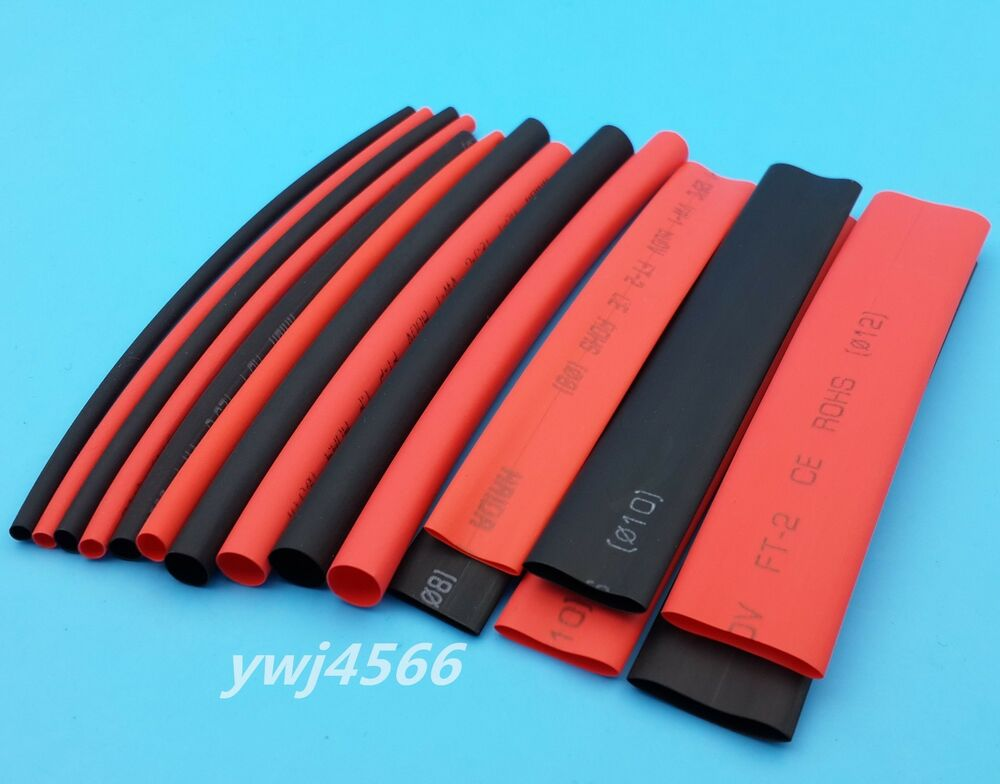 160pcs2 1 heat shrink tubing pipe wrap wire 8 sizes red. Black Bedroom Furniture Sets. Home Design Ideas