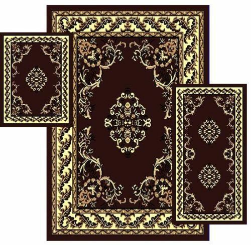 rugs set traditional style 3 pcs area rug 87781