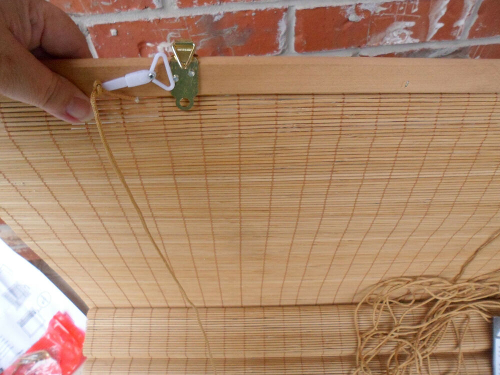 new 25x68 natural bamboo roll up blinds shade curtain 25 w x 68 l ebay. Black Bedroom Furniture Sets. Home Design Ideas