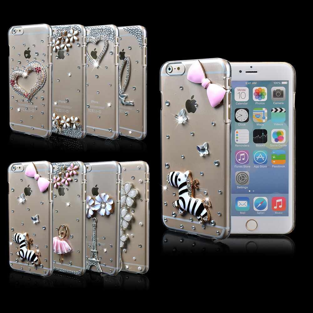 3D Bling Diamond Crystal Hard PC Case Cover For iPhone 6 4.7u0026quot;/ iPone 6 ...
