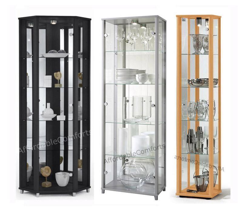glass display cabinets with lights 2