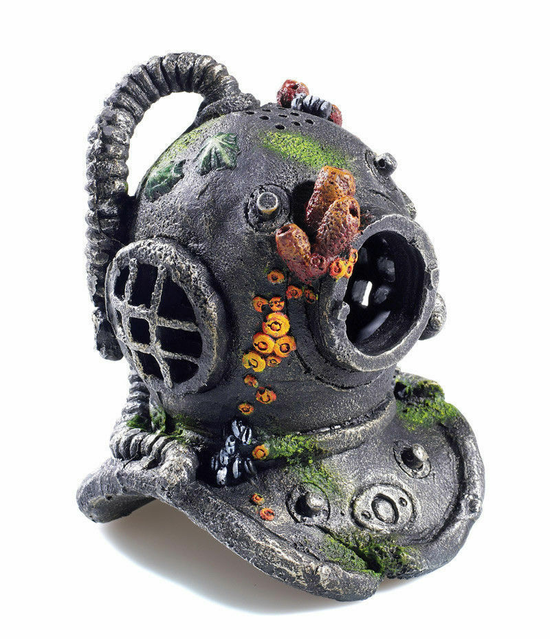 Classic deep sea divers helmet aquarium ornament fish tank for Aquarium scuba diver decoration