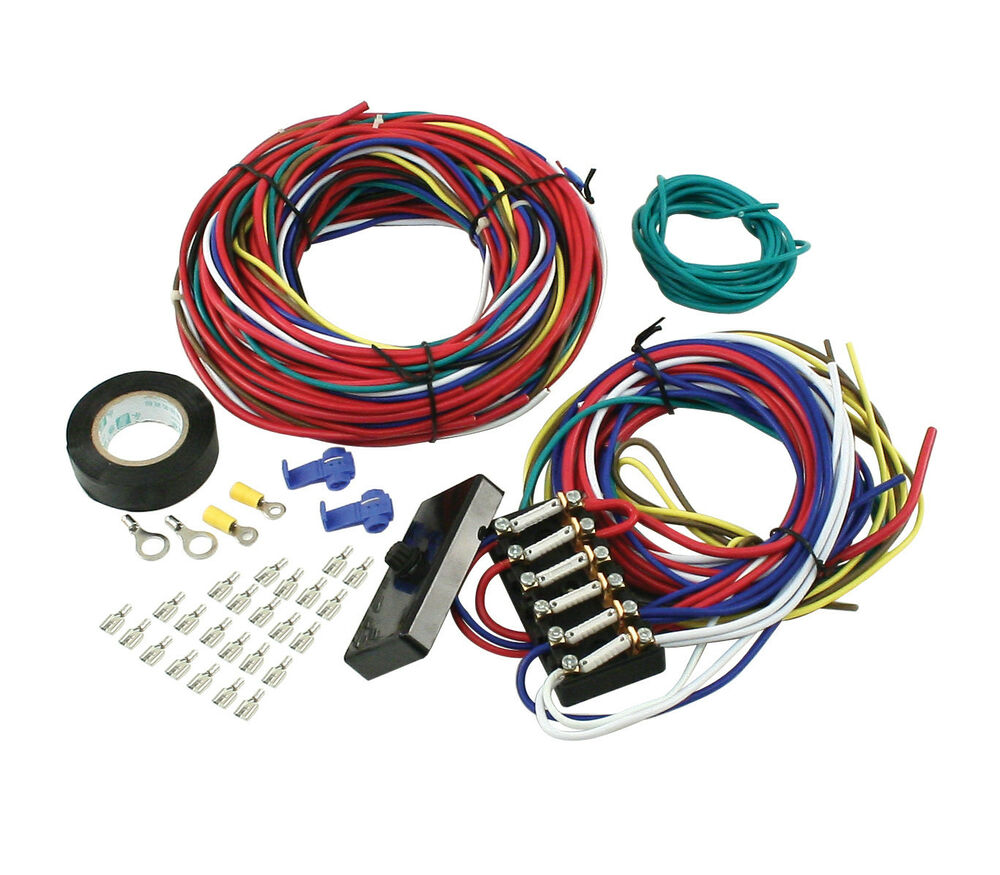 empi 9466 universal wire harness w  fuse box ebay Engine Wiring Harness Automotive Wiring Harness