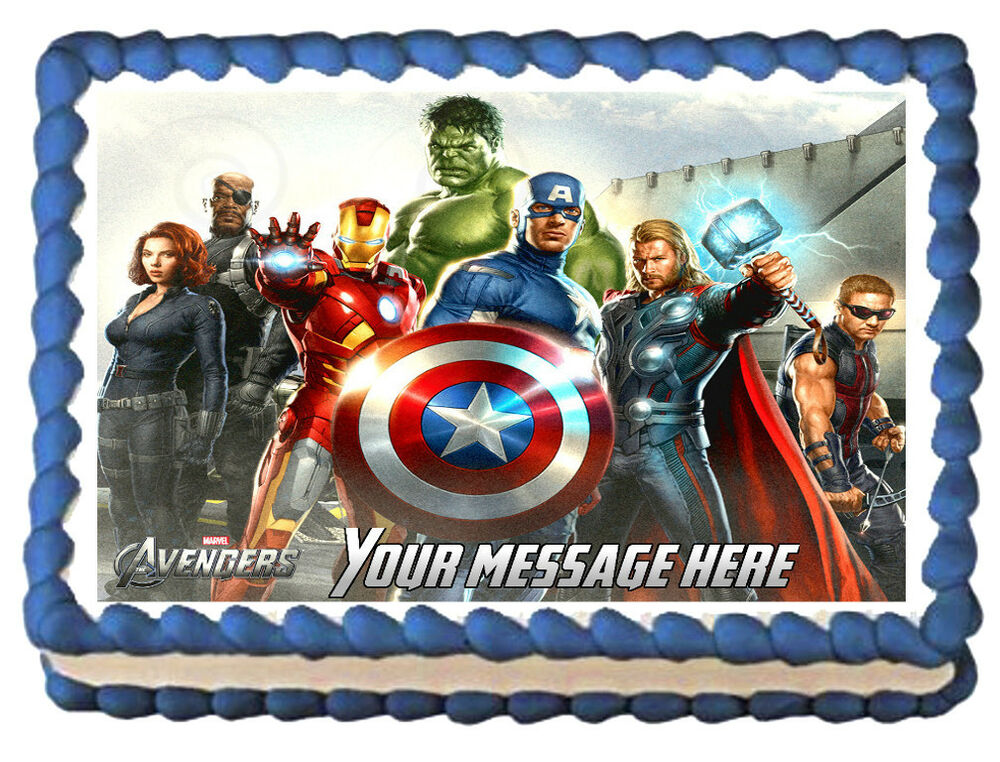 THE AVENGERS Movie Edible image Cake topper Decoration eBay