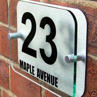 MODERN HOUSE SIGN PLAQUE DOOR NUMBER STREET A021