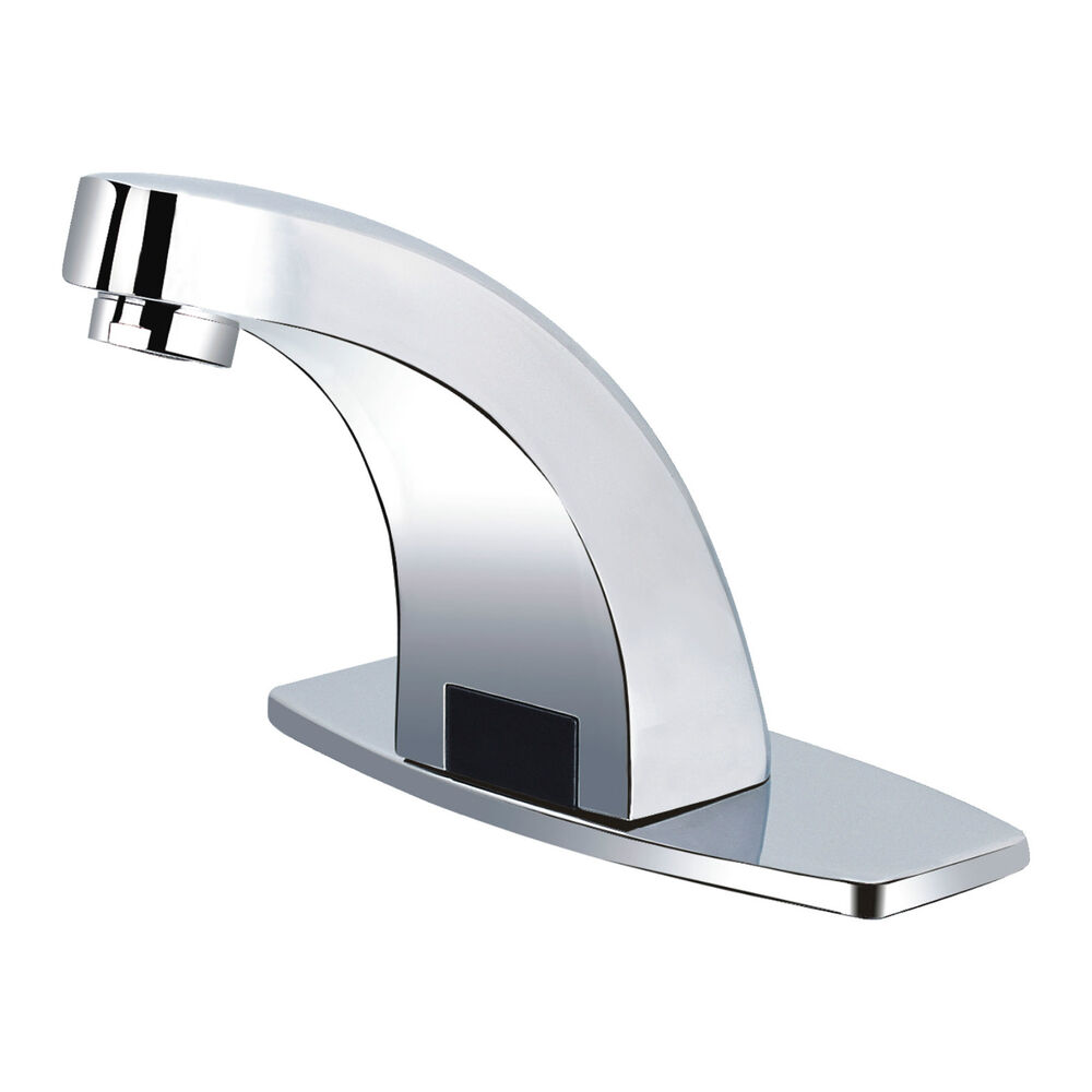 Washroom Taps : AUTOMATIC TAPS SENSOR TAP CHROME WASHROOM WASH BASIN SINK TOILET HANDS ...